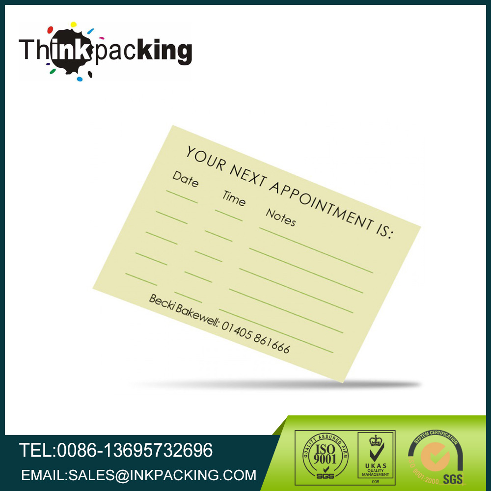 Appointment Cards, Appointment Cards Suppliers and Manufacturers ...