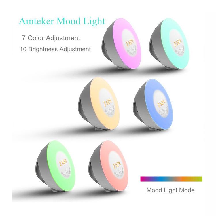 Professional Outdoor Portable Speaker with Led Light wireless speaker alarm clock