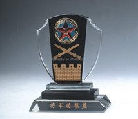 Wholesale crystal glass engraved trophies and plaques