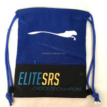 210T Recycle Polyester Promotional Drawstring Bags With A Pouch Inside