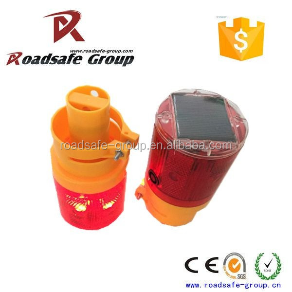Driveway Safety Equipment Yellow Flasher Light Led  Solar Warning Light