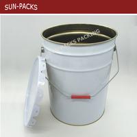 20L Round 5 gallon paint bucket / chemical paint pail drum