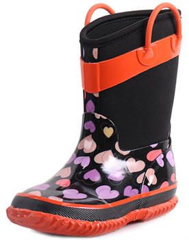 2017 new product children's Rubber Rain Boots Neoprene snow boots