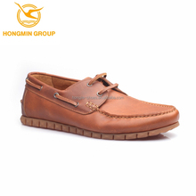 latest design fashion rubber flat sole boat shoes china high class shoe factory shoes for men