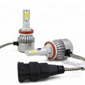 Car Accessories C6 LED Headlight H7 dual triple color