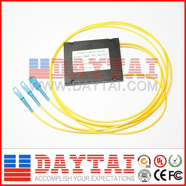 2.0MM Pigtail Cassette Type PLC Splitter 1x 2