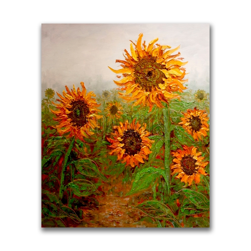 Handpainted Sunflowers Oil Painting Modern Wall Art