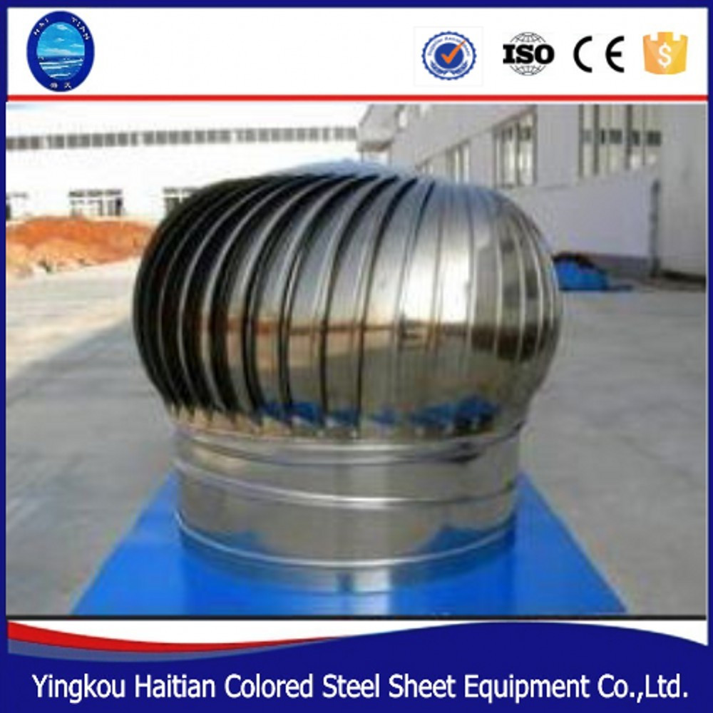 High-speed portable ventilation used stainless steel helical vertical wind turbines