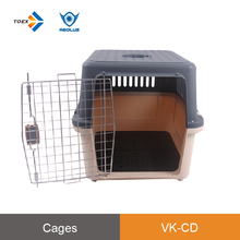 VK-CD Stable structure dog flight cage carrying crate ergonomic handle heavy duty dog crate