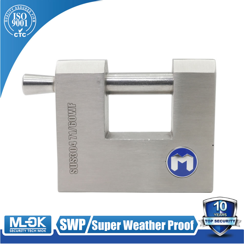 MOK@71/60WF Hot sale big padlock key alike master key stainless steel rectanguler padlock