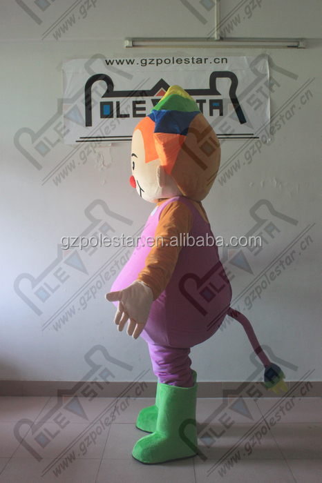 custom purple bib boy mascot costumes NO.4572