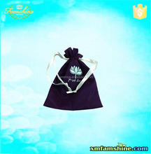 wholesale custom satin drawstring embroidered jewelry bag