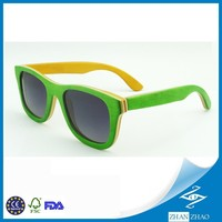 Colorful custom design sun glasses, skateboard wooden sunglasses