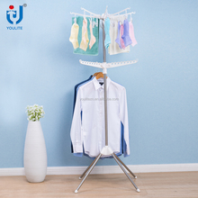 Multifunctional foldable rotating clothes rack