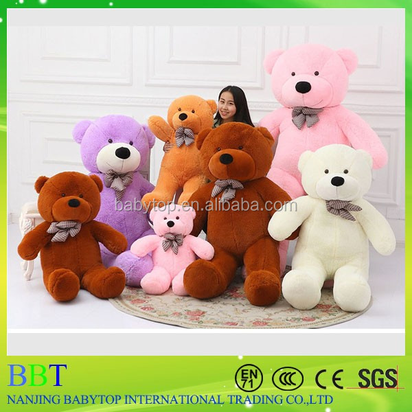 wholesale stuffed large teddy bear skin toy giant plush animals