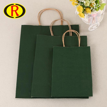 Custom Design Slogan Green Craft Paper Bag With Your Own Logo For Gifts