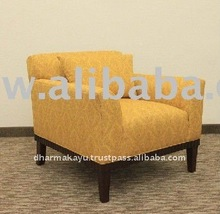 Hotel Furniture Yellow Modern Fabric Sofa