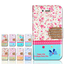 8 Design Rural Style Floral Dazzle Mobile Phone Flip Cover Wallet Case For Samsung Galaxy Note 3