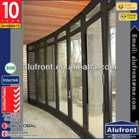 as2047windproof aluminum glass door insert blinds folding door