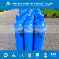 2015 High Pressure 50L 150bar Seamless Steel Oxygen Gas Cylinder