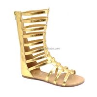 RMC Back zipper Tall Gladiator Sandals