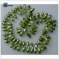 Chinese wholesale beads water drop shaped crystal glass beads