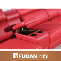 rexine fabric sofa mixed leather and fabric sofas FM073D