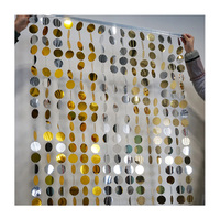 Gold and silver shimmer discs strands sequin curtain