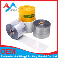 stretch film jumbo roll transparency pvc shrink film from FOSHAN SUPPLIER