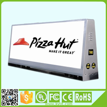 High brightness full color 3g taxi top advertising signs