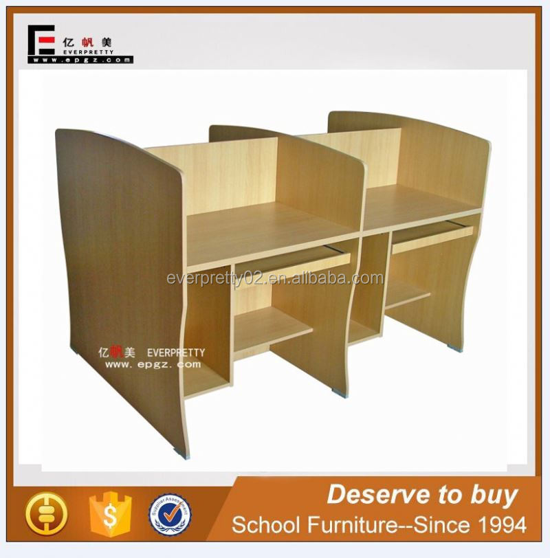 New Japanese Teacher Pictures of Wooden Computer Desk Table with Bookshelf
