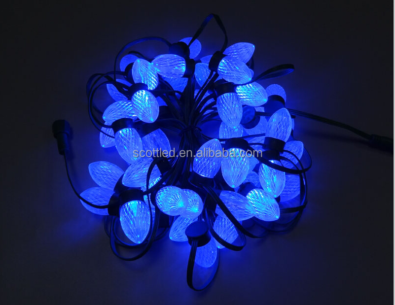 Best price 3D view holiday decoration LED light D24 IP67 waterproof rgb 12V