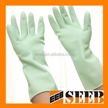 high quality green color cheap wholesale glove glove factory wash glove