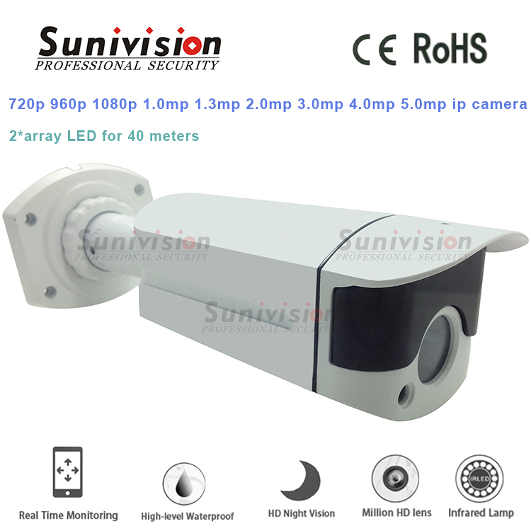 low price ODM 4MP 2 ARRAY LED h.264 / h.265 network video output p2p ip camera