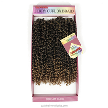 10inch Short Jerry Curl Grey Crochet Braids Hair Extensions 3pieces/lot Synthetic Freetress Braiding 2 lots for full head