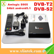 Factory wholesale KII Pro Amlogic S905 DVB S2 T2 Android TV BOX K2 pro Android 5.1 KODI 16.0 2GB RAM 16GB ROM Bluetooth 4.0 Box