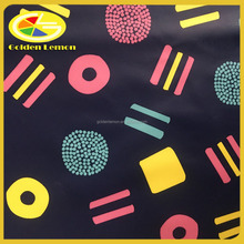 PU leather fabric, printed fabric for children garments with PU laminated , PU synthetic leather