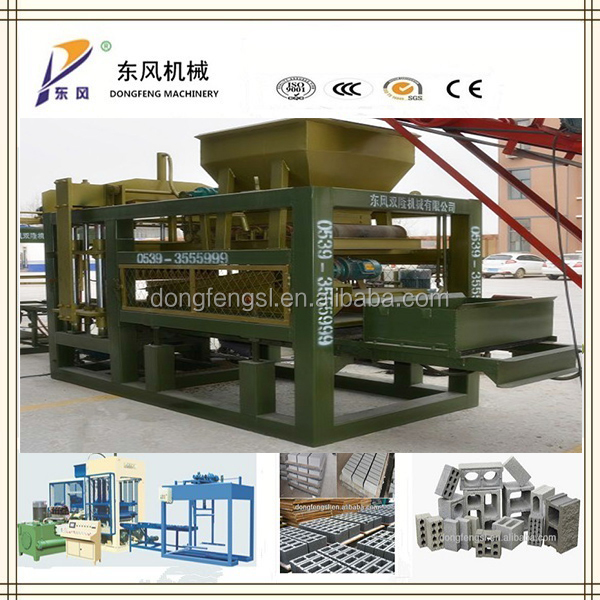 QT 4-15 latest construction block machine technologies /concrete block machinery