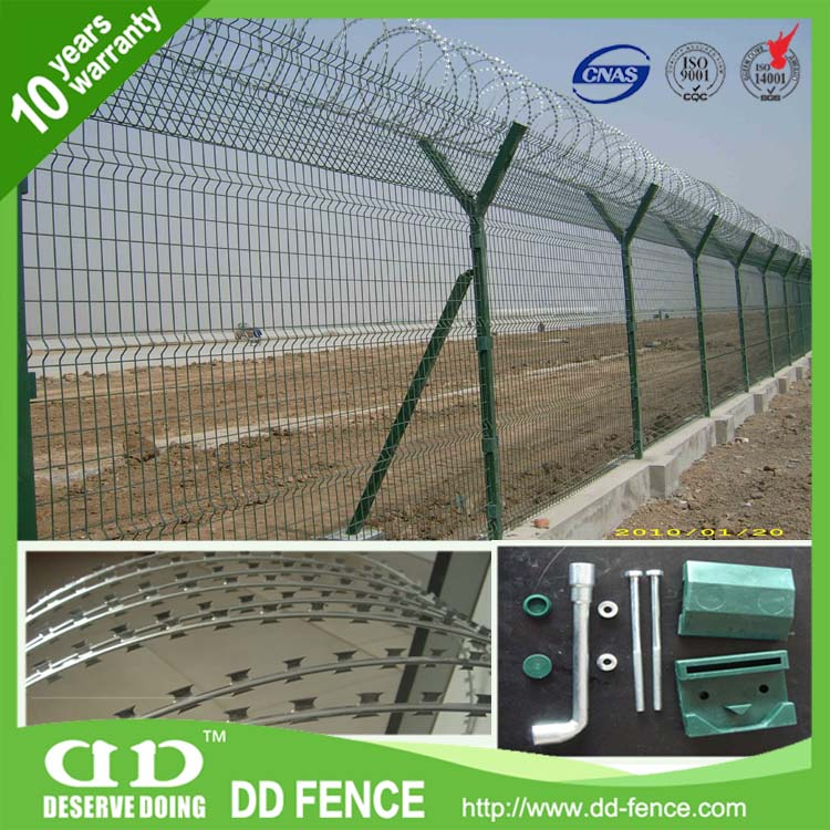 Steel Playground Airport Fence / Welded Metal Airport Fence
