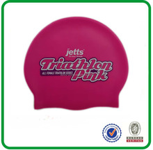 2014 Newest Silicone swim cap with colorful logo