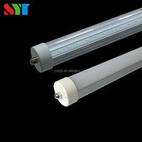 UL&DLC Listed t8 Fa8 8 feet single pin led light tube with 5 years warranty 40w