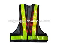 LED reflective wrist band with net clothes safety vest
