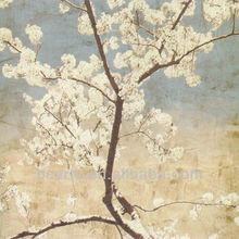 High quality latest design beautiful cherry blossoms painting