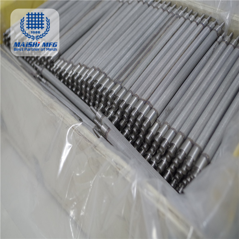 stainless steel round filter mesh tube