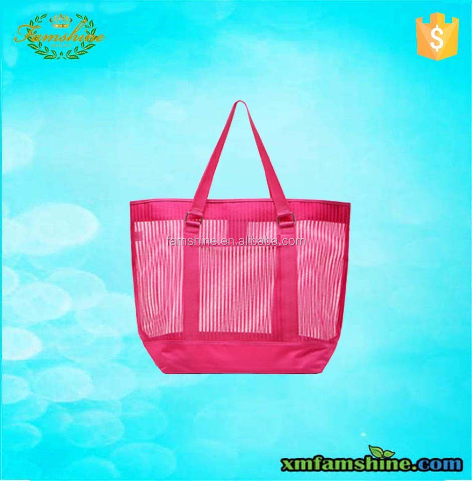 customized fashion nylon mesh shopping bag