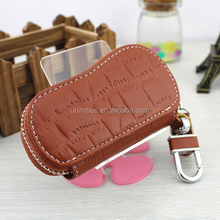 Cute PU leather key bag, Genuine leather keychain wallet,debossed key chain ring keyring purse money clip billfold bifold pouch