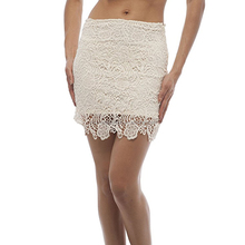Lace Midi Skirt With Side Zipper hot girls tight short skirt