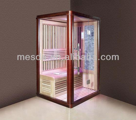high quality Indian style sauna room;red cedar sauna room with control system;mica board sauna room