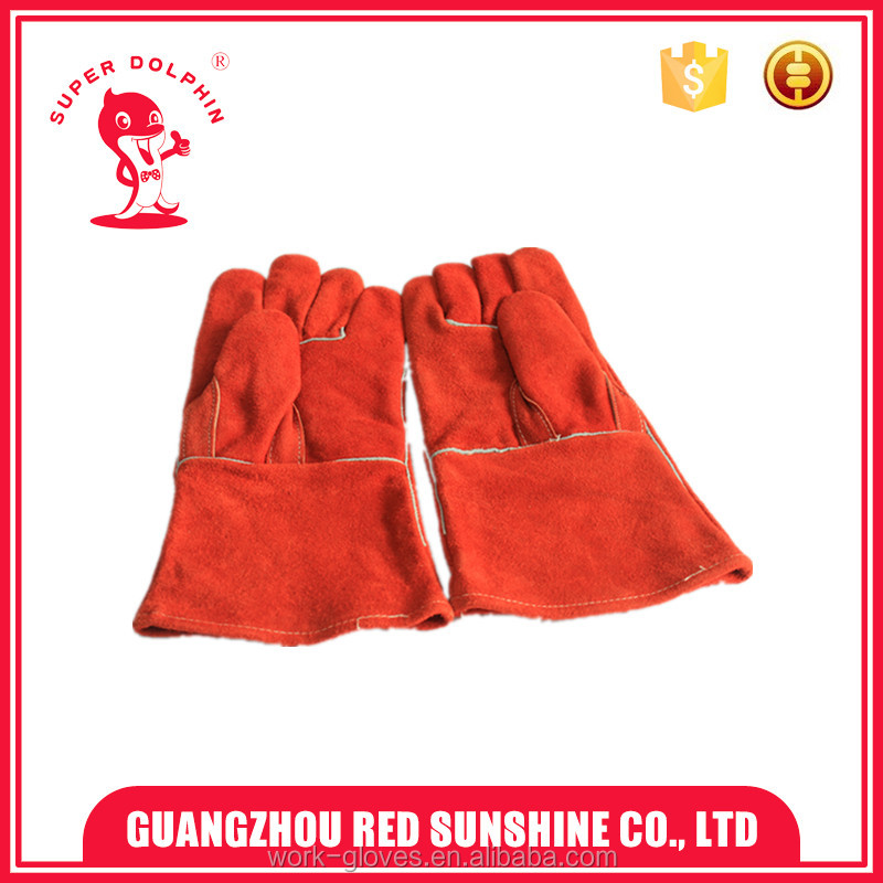 Cow split leather welding gloves tig welding gloves safety protection