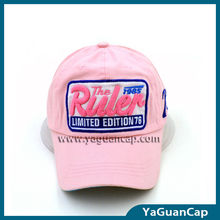 Cap And Hat:100% Cotton Twill Lovely Pink Baseball Cap Made In China